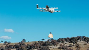 Project Wing drones made deliveries to six households in Fernleigh Park.