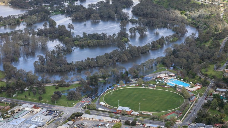 Flooding at Noreuil Park and Albury Sports Ground.
