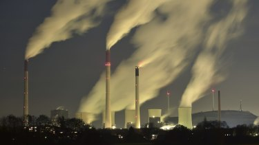 Greenhouse gases at a record high: a coal-fired power station in Gelsenkirchen, Germany.