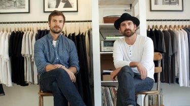 Sasha Koehn and Erik Schnakenberg, of back-to-basics t-shirt maker Buck Mason.