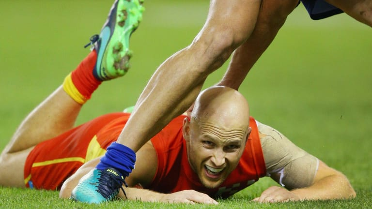 Sidelined: Gary Ablett of the Suns.