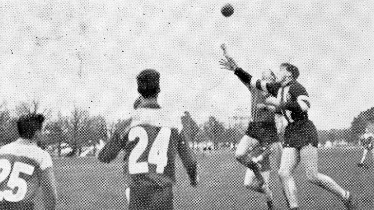 George Pell was a football star at St Patrick's College in Ballarat.