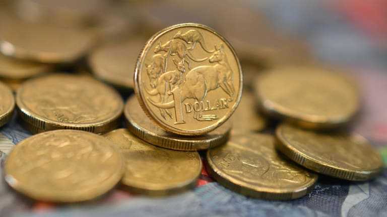 The Australian currency fell to US75.44¢, a drop of 0.3 per cent for the session, and with the US75¢ level firmly in reach.