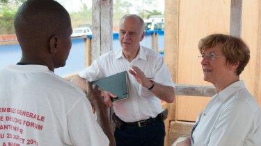 David Nabarro in Guinea as the UN's special envoy on Ebola.