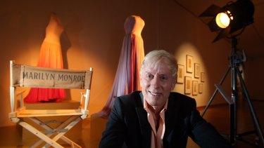 Marilyn Monroe collector Greg Schreiner at the exhibition in Bendigo.