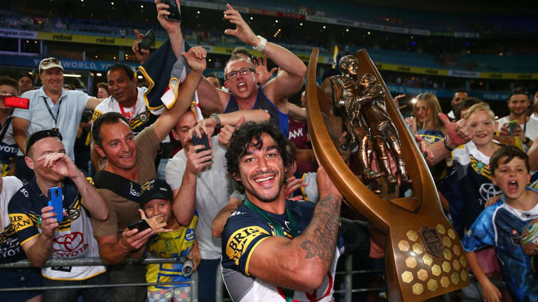 Massive numbers watched Johnathan Thurston's Cowboys carry off the NRL trophy.