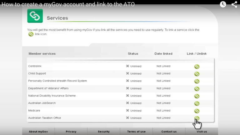 myGov is a portal which provides single sign-on (SSO) to access multiple services from linked government agencies.
