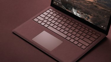 The Surface Laptop's material finish makes for a warmer touch.