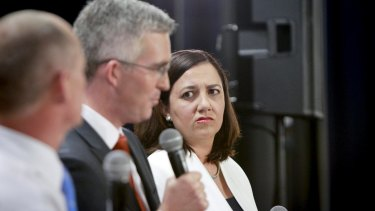 Opposition Leader Annastacia Palaszscuk says Newman was making 'very serious allegations' at The People's Forum on Friday night.