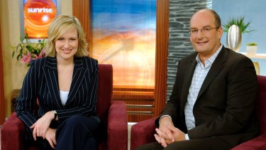 Former <i>Sunrise</i> co-host Melissa Doyle with David 'Kochie' Koch, in 2005.
