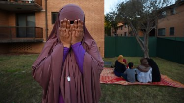 Fear and tears: Nayser Ahmed's wife and family are on a bridging visa and living in Sydney.