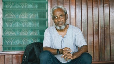 Nayser Ahmed on Manus Island.