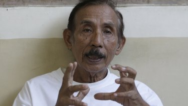 Lukas Tumiso tells Fairfax about being tortured in 1965 at a nursing home in Jakarta last year.