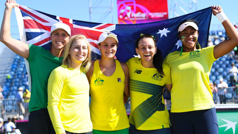 Australia won its Fed Cup tie in Canberra. It was the first time in 20 years the Fed Cup was played in the capital.