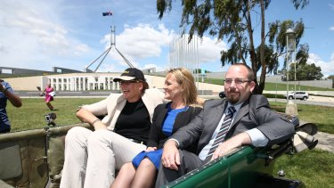 Senator Ricky Muir made a rare public appearance on Tuesday to launch the Parliamentary Friends of Motoring group.