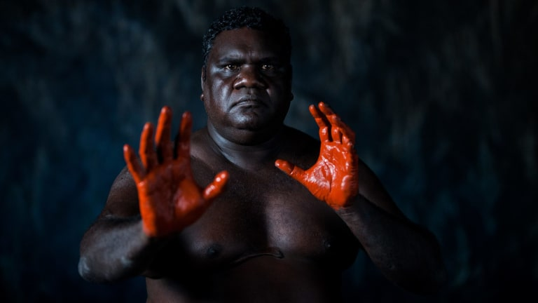 Djakapurra Munyarryun as Big Man in Spear.
