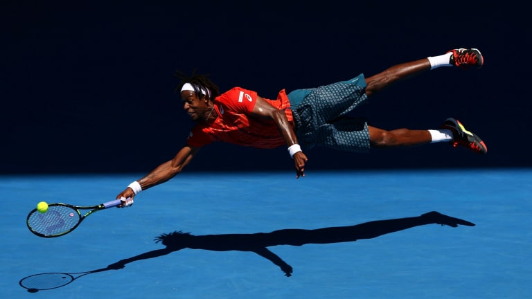 Gael Monfils during day eight of the 2016 Australian Open in 2016.