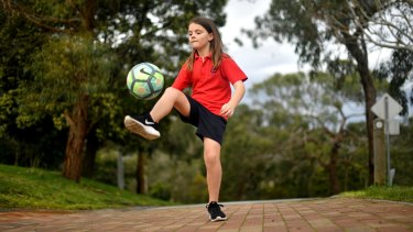 Mount Eliza student Jess, 9, finds shorts a lot more practical than dresses and wears them to school each day..