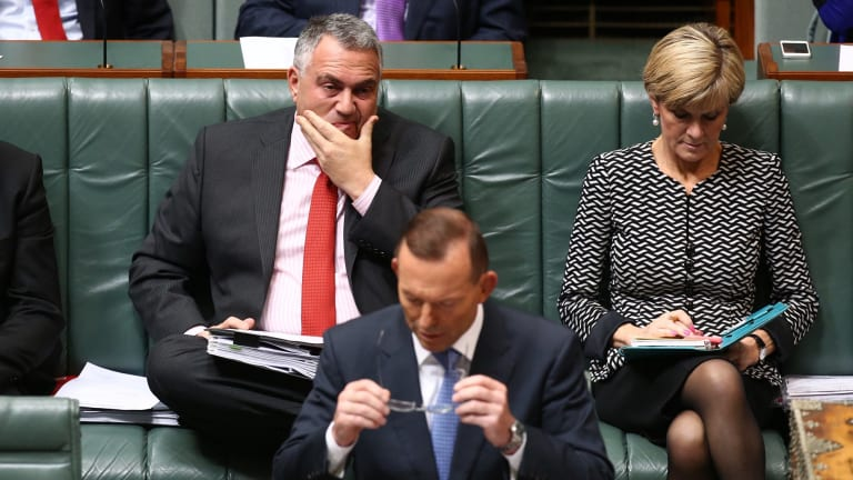 Treasurer Joe Hockey and Prime Minister Tony Abbott during question time on Wednesday.
