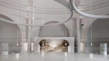 6a architects' Octagon Court, a fashion gallery at London's V&A.