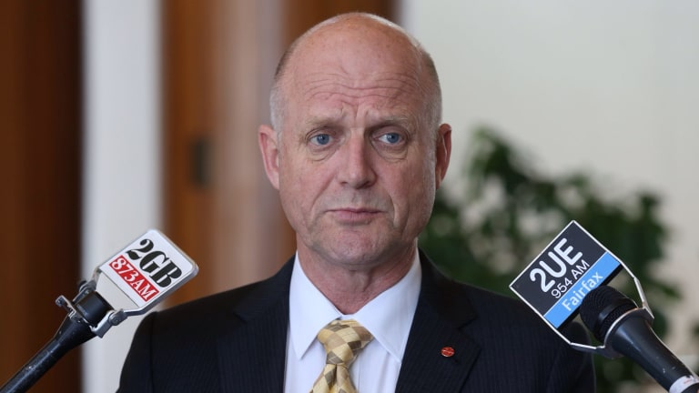 Senator David Leyonhjelm at Parliament House.