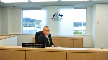 "Deputy President of the Administrative Appeals Tribunal Gary Humphries labelled efforts by Comcare to recoup payments ""unconscionable"" last year."