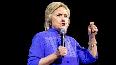 Democratic presidential hopeful Hillary Clinton in Cincinnati on Monday.