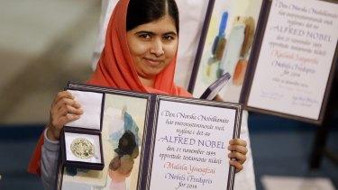 """I want there to be peace everywhere"": Nobel laureate Malala Yousafzai."