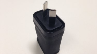 The USB charger recalled by Officeworks after the casing around a device melted after overheating.