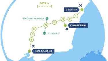 Proposed Sydney-Melbourne high-speed rail link.