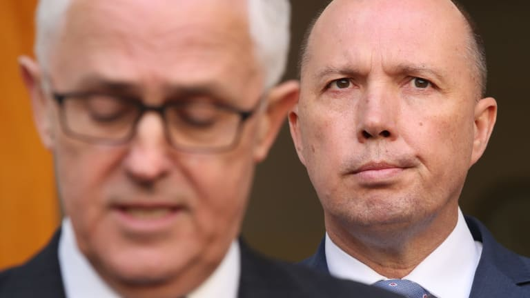 Malcolm Turnbull and Peter Dutton in Canberra last month.