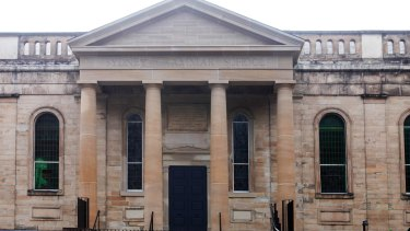 The impressive sandstone of Sydney Grammar School.