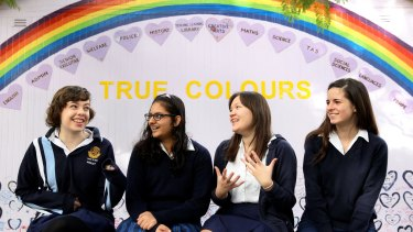Study shows students find physical education classes distressing: Students from Burwood Girls High School.
