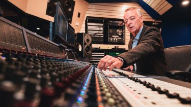 Australian record producer and audio engineer Mark Opitz at the opening of the ANU's new state-of-the-art recording studio at the School of Music.