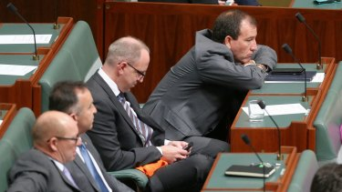 Special Minister of State Mal Brough (right) has been accused of misleading Parliament.