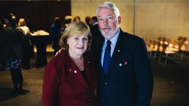 Denise and Bruce Morcombe, the parents of murdered schoolboy Daniel, were in Canberra to support other families on International Missing Children's Day.