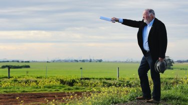Wyndham councillor John Gibbons on land in Tarneit soon to be developed for houses.