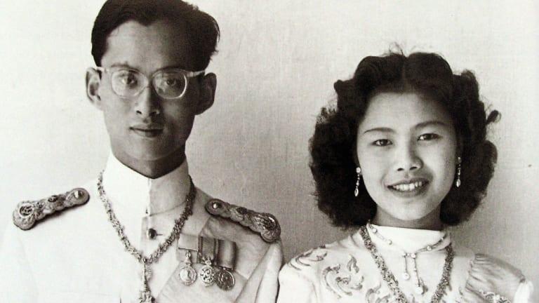An undated photo of King Bhumibol Adulyadej and Queen Sirikit.