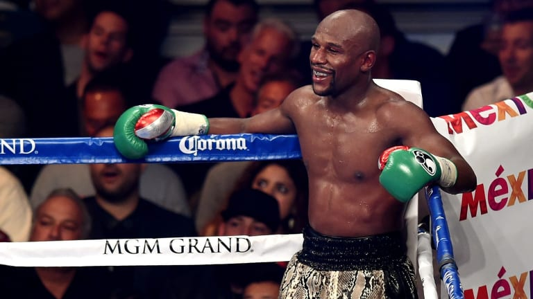 Troubled past: Floyd Mayweather.