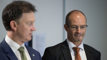 AMA president Michael Gannon (left) and NSW president Brad Frankum.