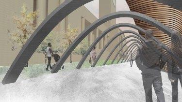 Ally Salonen designs for Plus Architecture King George Square design competition