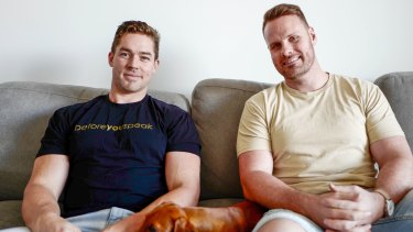 Jaryd Terkelsen and Ash Bisset are the founders of Before You Speak.