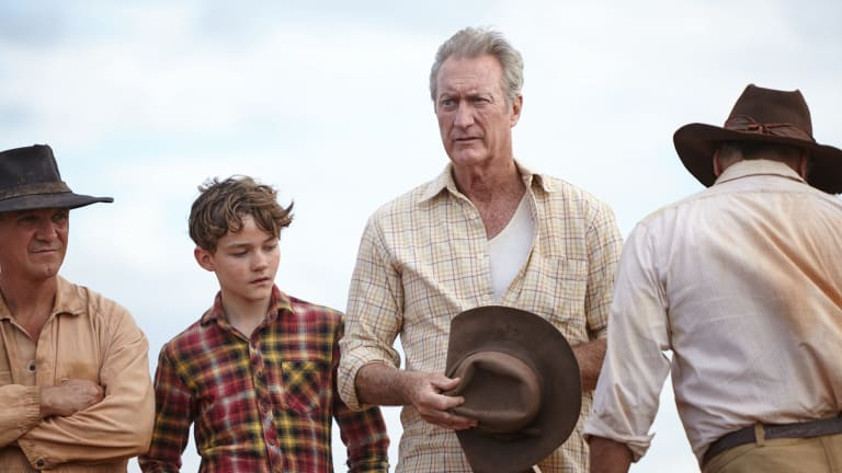 Levi Miller stars as Mick, the young boy who befriends a young kelpie, in <i>Red Dog: True Blue</i>. Bryan Brown and Syd Brisbane also star.