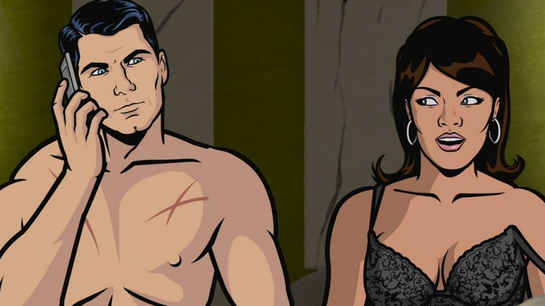 Scene from the Emmy-winning animated series <i>Archer</i>.