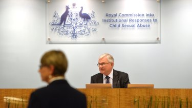 Justice Peter McClellan during the Royal Commission into Institutional Responses to Child Sexual Abuse.