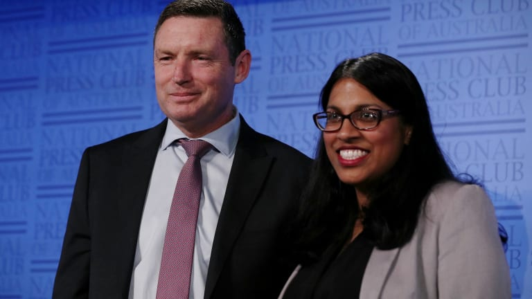 Opponents: Lyle Shelton, managing director of the Australian Christian Lobby and Karina Okotel, vice-president of the federal Liberal Party.