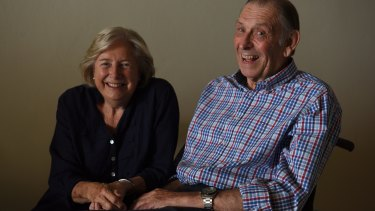 Barbara Leonard with her husband David who had a stroke and has home care.