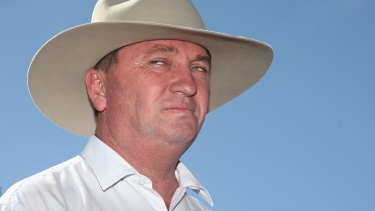 """Murray Goulburn's treatment of farmers is """"a real concern to Barnaby""""."""