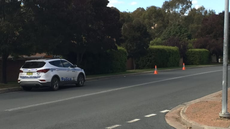 The scene of the second stabbing in Southwell Place, Queanbeyan.