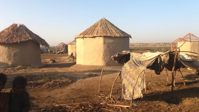 Pakistan's first female architect, Yasmeen Lari, designed the OctaGreen Shelter to provide housing following earthquakes.